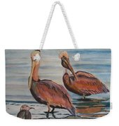 Pelican Party Weekender Tote Bag