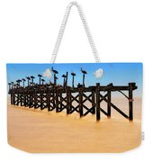 Pelican Pier Near Pass Christian - Mississippi Weekender Tote Bag