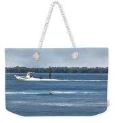 Pelican Porpoise And Fishermen Weekender Tote Bag