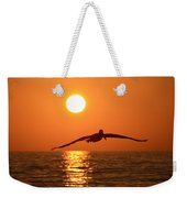 Pelican Sunset Weekender Tote Bag