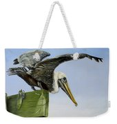 Pelican Wings Weekender Tote Bag