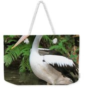 Pelican With A Bird Park In Bali Weekender Tote Bag