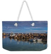 Pelicans At Eden Wharf Weekender Tote Bag