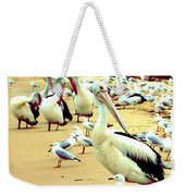 Pelicans At Pearl Beach 4.1 Weekender Tote Bag