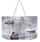 Pelicans At Rest Weekender Tote Bag