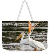 Pelicans Fishing Weekender Tote Bag