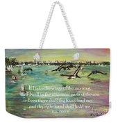 Pelicans Fly Psalm 139 Weekender Tote Bag