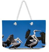 Pelicans Take Flight Weekender Tote Bag