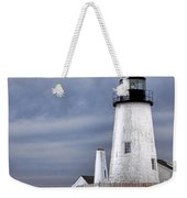 Pemaquid Point Lighthouse In Winter Weekender Tote Bag