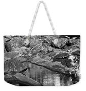 Pemaquid Point Lighthouse Maine Black And White Weekender Tote Bag