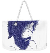 Pen Portrait Weekender Tote Bag