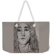 Pencil Portrait Of John Lennon  Weekender Tote Bag