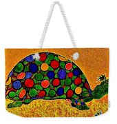 Pencil Sketch And Water Color Turtle Of The Rainbow Weekender Tote Bag