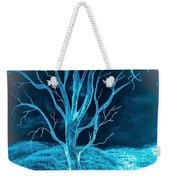 Pencil Sketch Of A Tree And Hills In Abstract Weekender Tote Bag
