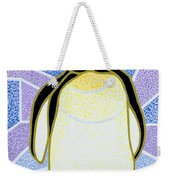 Penguin On Stained Glass Weekender Tote Bag