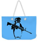 Penguin Soldier Weekender Tote Bag by Pixel Chimp