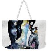 Penguin With Baby Weekender Tote Bag