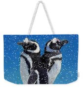 Penguins In The Snow Weekender Tote Bag