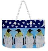 Penguins Talking Weekender Tote Bag