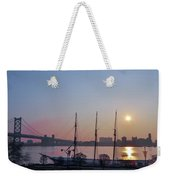 Penns Landing Sunrise Weekender Tote Bag