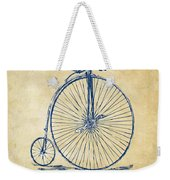 Penny-farthing 1867 High Wheeler Bicycle Vintage Weekender Tote Bag by Nikki Marie Smith