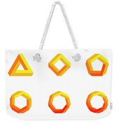 Penrose Triangle And Polygons Colored Weekender Tote Bag