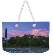 Pensacola Lighthouse Dusk Weekender Tote Bag