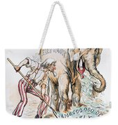 Pension Cartoon, 1893 Weekender Tote Bag