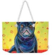 Pensive French Bulldog Painting Prints Weekender Tote Bag