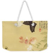 Peonies And Butterflies Weekender Tote Bag