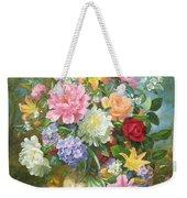 Peonies And Mixed Flowers Weekender Tote Bag