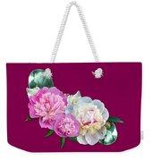 Peonies In Pink And Blue Weekender Tote Bag