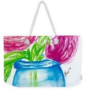 Peonies Mason Jar Weekender Tote Bag