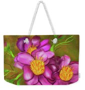 Peonies On Holiday Weekender Tote Bag