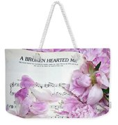 Peonies On Music Sheet - Pink Peonies Shabby Chic Inspirational Print - Peony Home Decor Weekender Tote Bag
