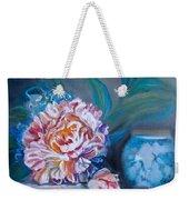 Peony And Chinese Vase Weekender Tote Bag