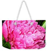 Peony And Raindrops Weekender Tote Bag