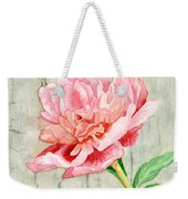 Peony At The Fence Weekender Tote Bag