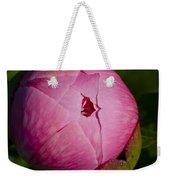 Peony Blossom Opening Weekender Tote Bag