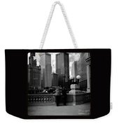 People And Skyscrapers - Square Weekender Tote Bag