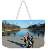 People At The Reflecting Pool Weekender Tote Bag
