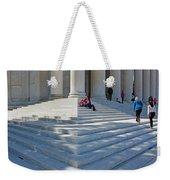 People On Steps With Columns Weekender Tote Bag