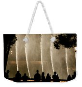 People Watching Fountain At Bellagio Weekender Tote Bag