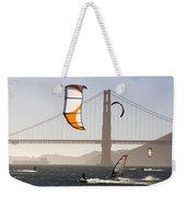 People Wind Surfing And Kitebording Weekender Tote Bag