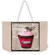 Peppermint Stick Christmas Cupcake Weekender Tote Bag