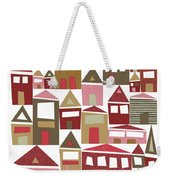 Peppermint Village Weekender Tote Bag