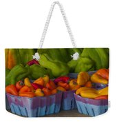 Peppers At The Produce Market Weekender Tote Bag