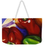 Peppers In The Round Weekender Tote Bag