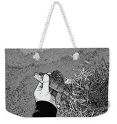 Perch Black And White Weekender Tote Bag
