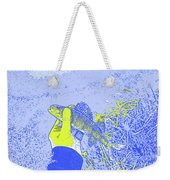 Perch Blue Yellow Weekender Tote Bag